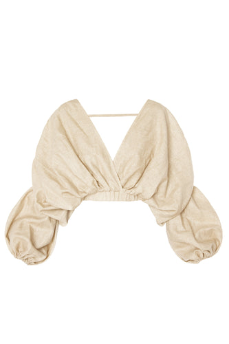Cocoon Crop Top - Beige