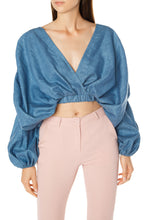 Load image into Gallery viewer, Cocoon Crop Top - Blue