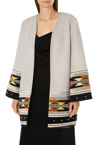 Decorative Trim Jacket - Grey
