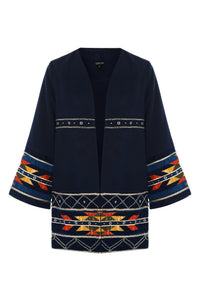 Decorative Trim Jacket - Navy