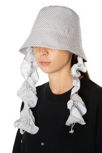 Polka Dot Ruffle Bucket Hat