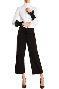 Smocked Cuff Pants - Black