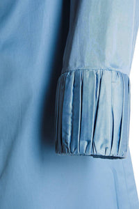 Pleat Cuff Shirt - Blue