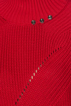 Load image into Gallery viewer, Knit Turtleneck Dress - Red