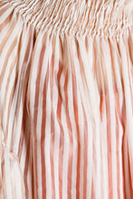 Load image into Gallery viewer, Oversized Sheer Overlay Striped Dress