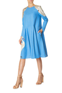 Swan Swing Dress - Blue