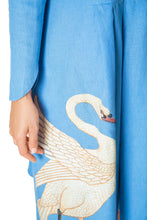 Load image into Gallery viewer, Swan Swing Dress - Blue