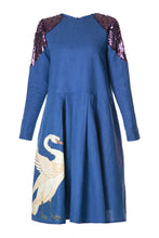 Load image into Gallery viewer, Swan Swing Dress - Navy