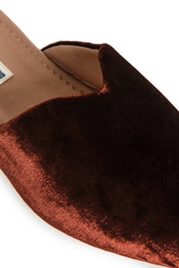 Velvet Mules - Brown