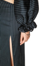 Load image into Gallery viewer, Pinstripe Cutaway Dress