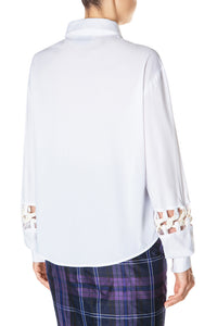 Chain Link Sleeve Trim Shirt