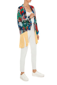 Marilyn Carpe Diem Fringe Silk Jacket