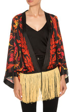 Load image into Gallery viewer, Marilyn Spike Lee Fringe Kimono Jacket