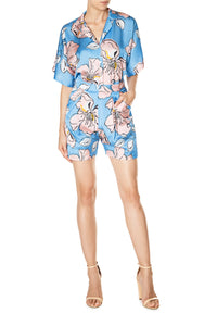 Floral Ruched Shirtdress