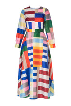 Load image into Gallery viewer, Geometric Colorblock Dress