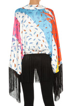 Load image into Gallery viewer, Marilyn Leaf Confetti Fringe Kimono Jacket