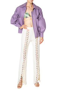 Balloon Sleeve Bomber Jacket