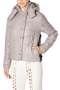 Sequin Quilted Puffer Jacket