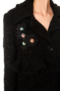 Embroidered Floral Lace Coat