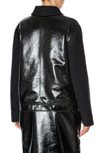 Load image into Gallery viewer, Vegan Leather Zip Front Jacket