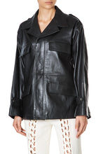 Load image into Gallery viewer, Leather Shirt Jacket