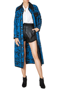 Floral Shirting Coat