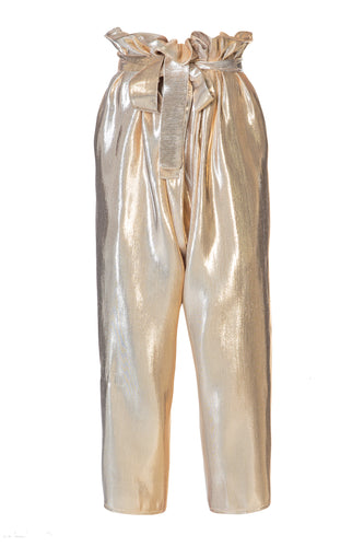 Metallic Cropped Pants