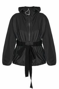 Zip Front Hoody Jacket - Black