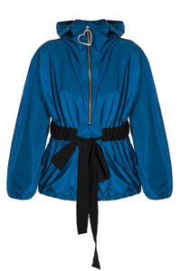 Zip Front Hoody Jacket - Blue