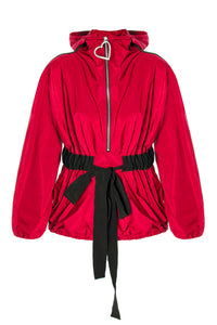 Zip Front Hoody Jacket - Red