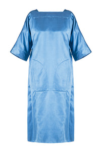 Satin Long Tunic - Blue
