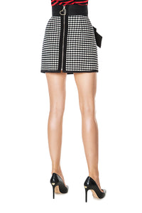 Slim Check Skirt