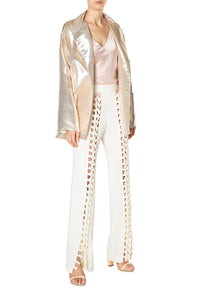 Metallic Menswear Blazer