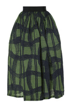 Load image into Gallery viewer, Warped Plaid Skirt - Green