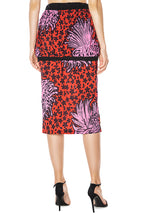Load image into Gallery viewer, Floral Drawstring Waist Skirt