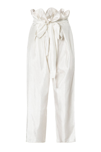 Pinstripe Cropped Pants