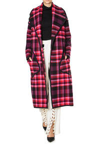 Plaid Menswear Coat