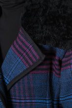 Load image into Gallery viewer, Fur Collar Plaid Coat