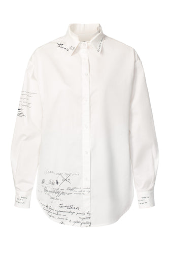 Mary Poppins Yoke Back Shirt - White