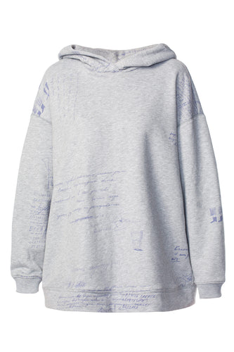 Long Mary Poppins Hoodie - Grey