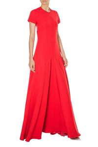 Jewel Neck A Line Gown