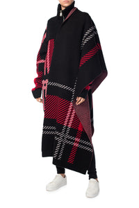 Long Oversized Wool Scarf - Black