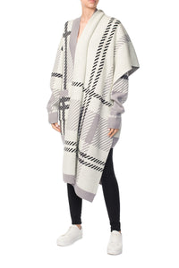 Long Oversized Wool Scarf - Ivory
