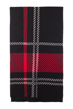 Load image into Gallery viewer, Long Oversized Wool Scarf - Black