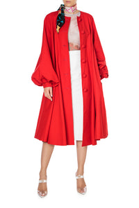 Button Front Oversized Dress