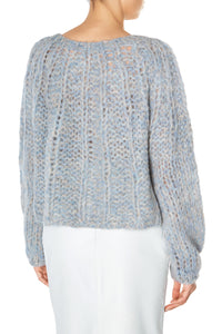 Open Weave Cable Sweater