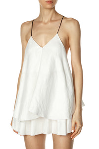 Trapeze Dress - White