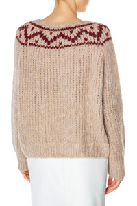 Geometric Yoke Sweater