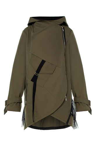 Summersun Raincoat with Detachable Tulle Tail - Olive