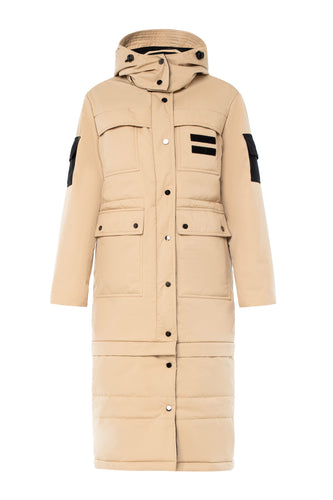 Slim Transformer Jacket Coat - Beige
